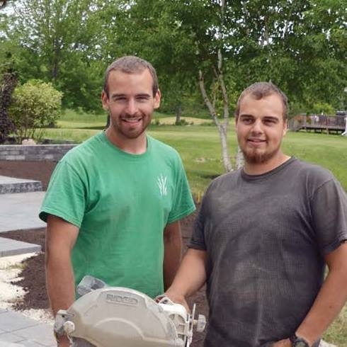 Owners of Springscapes Landscaping Joshua Baker and Ryan Baker